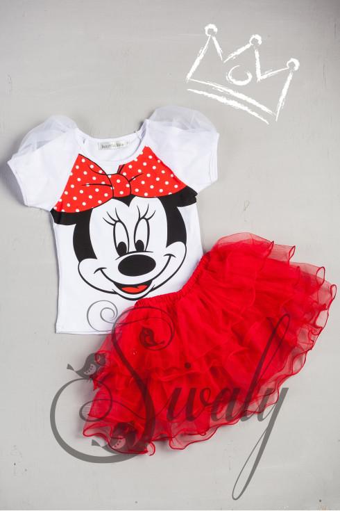 """Костюм """"Minnie Mouse"""" с красной юбкой"""