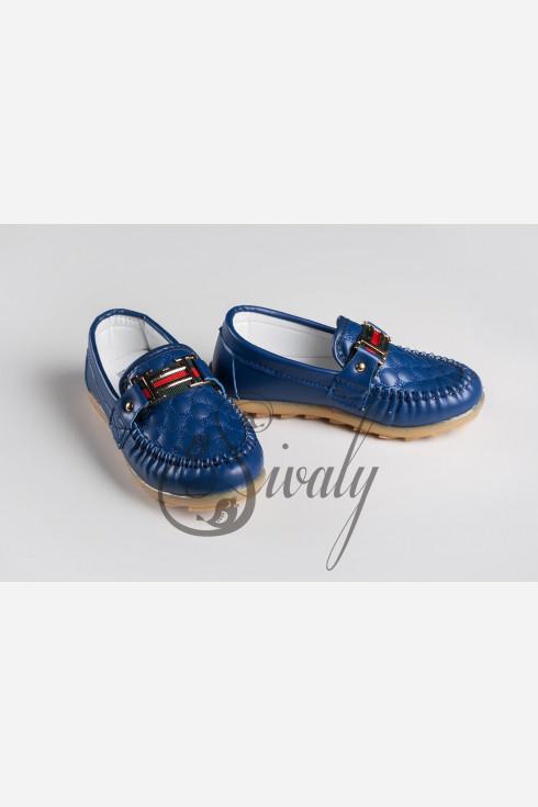 Мокасины синие